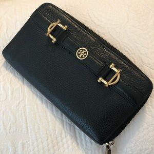 Tory Burch leather zip wallet